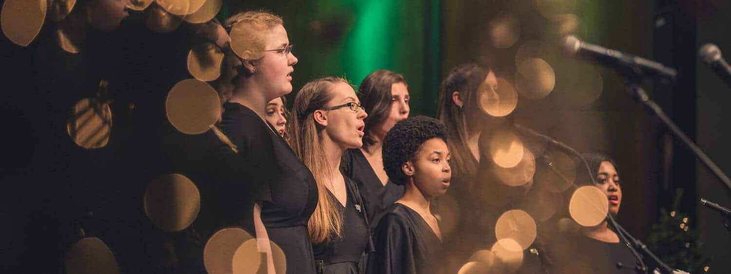 Singers at Regent University, which offers a B.A. in Music Leadership degree.