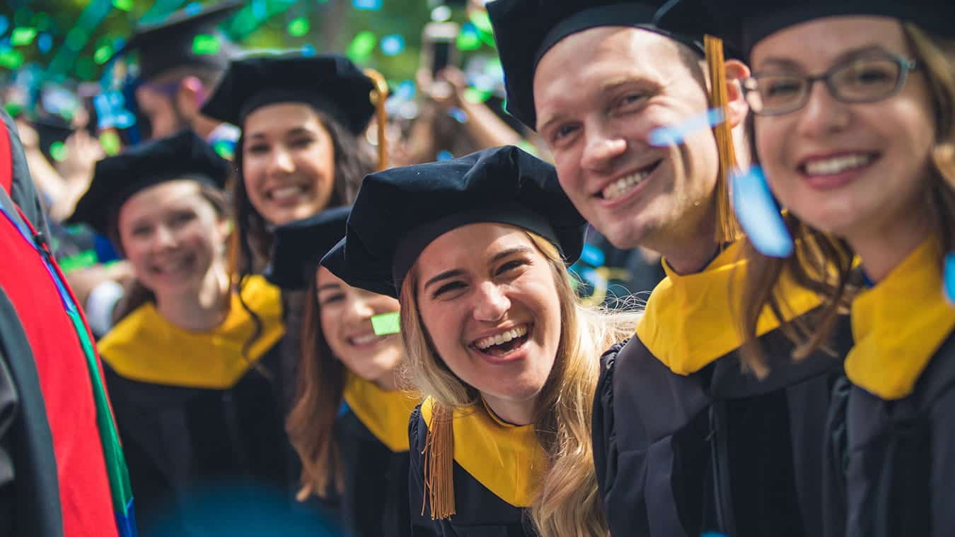 Regent University graduates on commencement day.