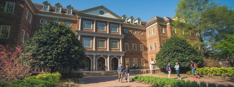 Robertson Hall, which houses Regent University's law school in Virginia Beach, VA 23464.