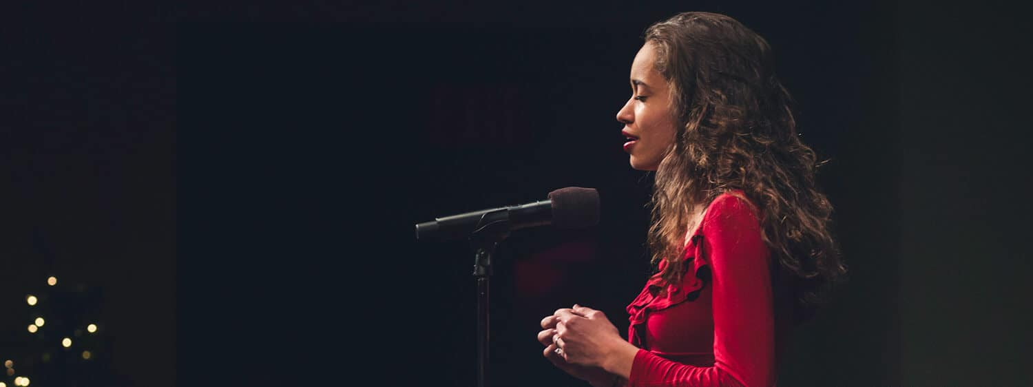 A student performing at Regent University: Explore our music performance degree program.