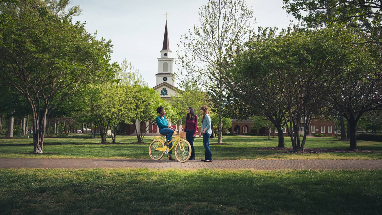 Students at Regent University's campus in Virginia Beach, VA 23464.