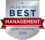 Regent University Ranked #22 in the Top 47 Best Online Masters in Management Programs | OnlineMasters.com, 2019.
