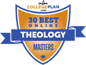Regent University Ranked #17 on Top 30 Best Online Theology Masters Programs | OnlineCollegePlan.com, 2019.