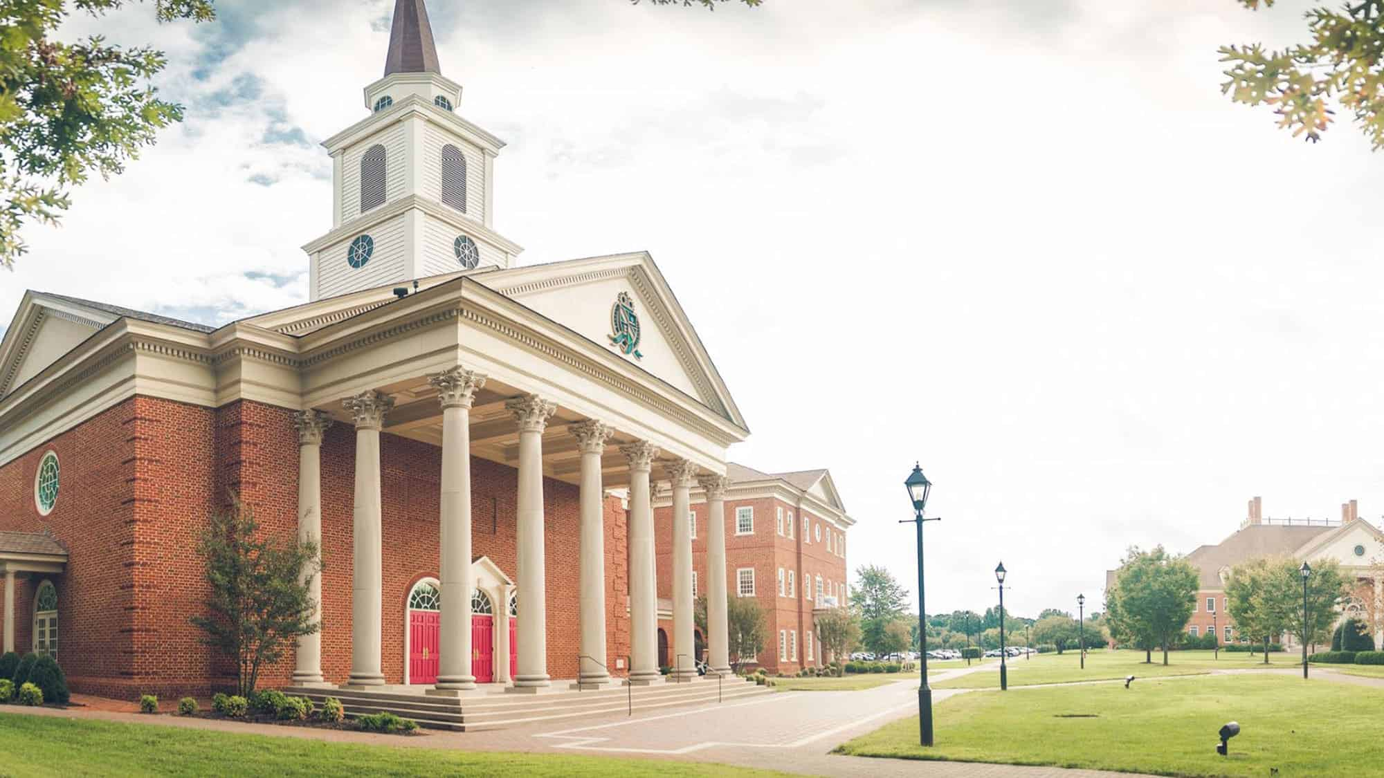 Regent University's chapel and divinity school in Virginia Beach, VA 23464.