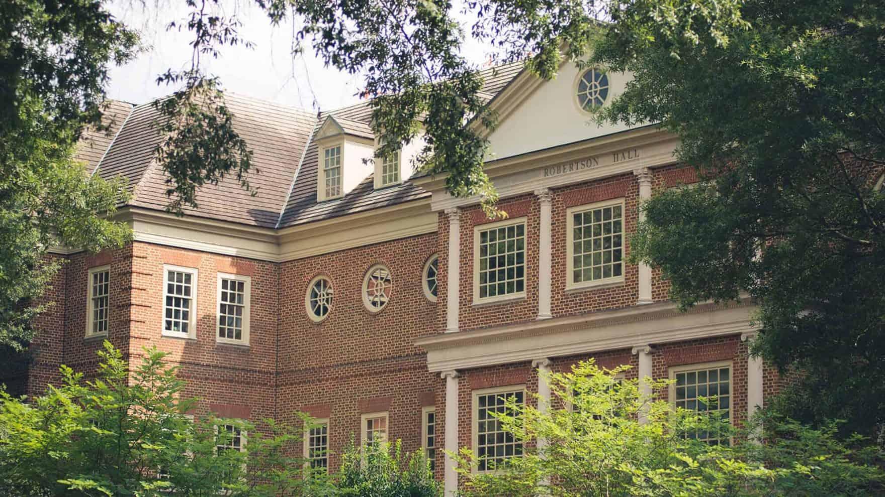Robertson Hall, which houses the Regent law school in Virginia Beach, VA 23464.