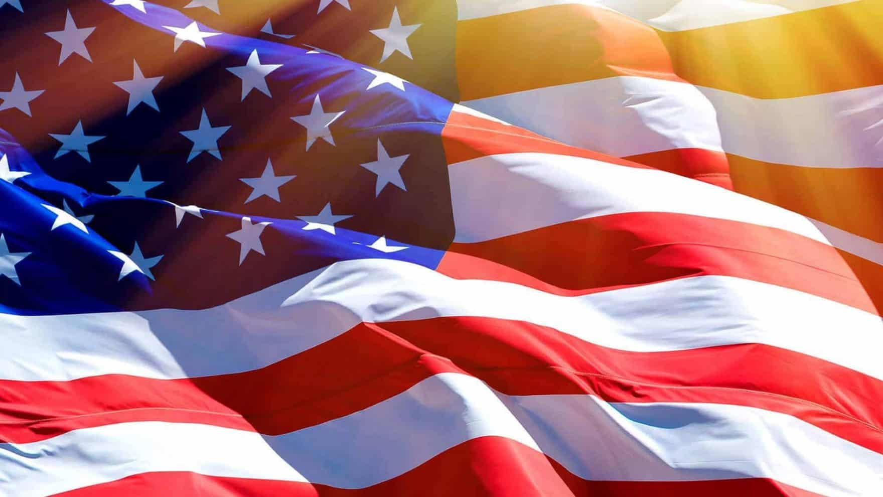 The American flag: Register for the virtual conference Analyzing American Election Integrity.