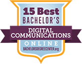 Regent University ranked #12 of the top 15 best online digital communications bachelor degrees | BachelorsDegreeCenter.Org