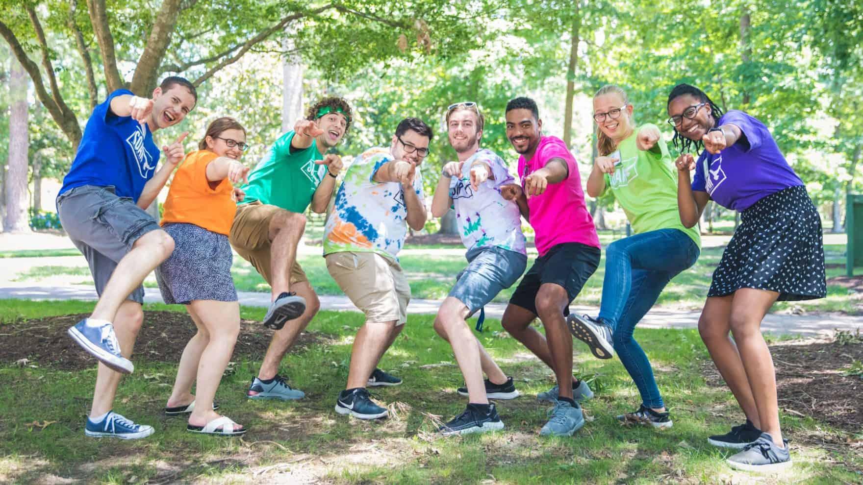 Students at Regent's college orientation for incoming freshmen in Virginia Beach, VA 23464.