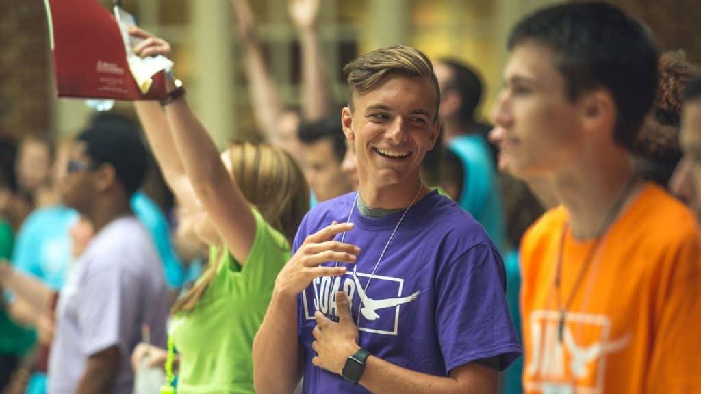 Students at Regent University's orientation for incoming college freshmen (SOAR) in VIrginia Beach, VA 23464.