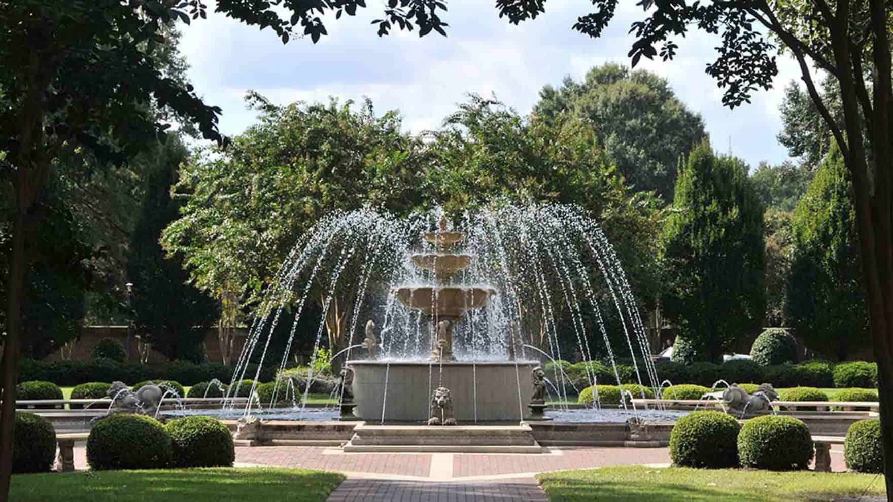 The fountain on Regent University's campus in Virginia Beach, VA 23464.