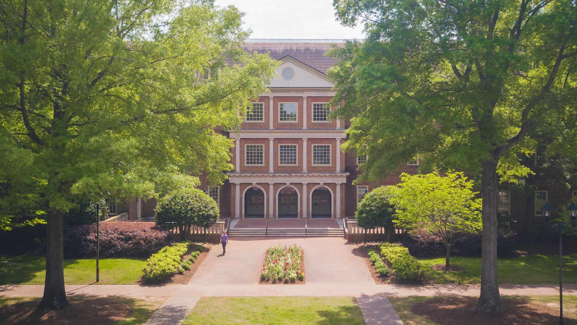 Robertson Hall, which houses Regent University's law school in Virginia Beach.