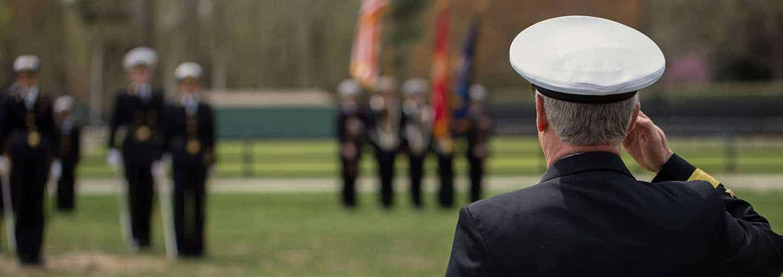 Military personnel at Regent University, Virginia Beach.