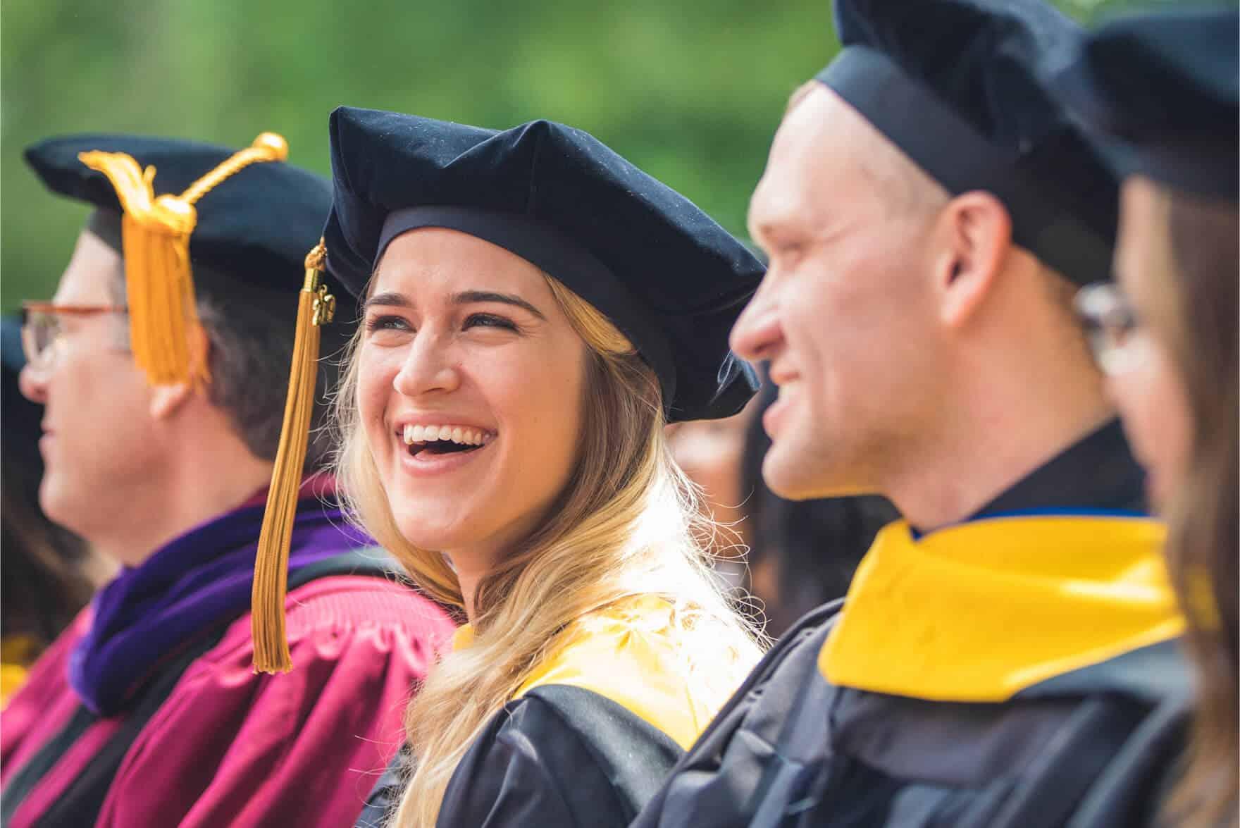 Regent University doctoral graduates during the commencement ceremony in Virginia Beach, VA 23464.