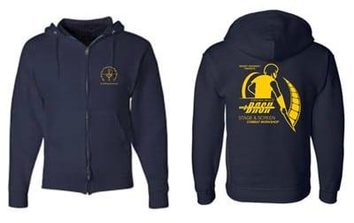 Navy Blue Zip Hoodie
